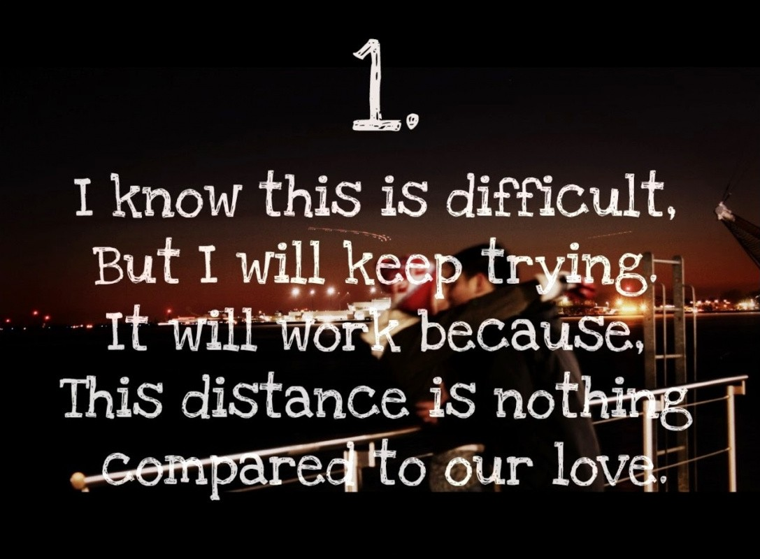 Long Distance Love Quote For Him From Her  Picture Quote