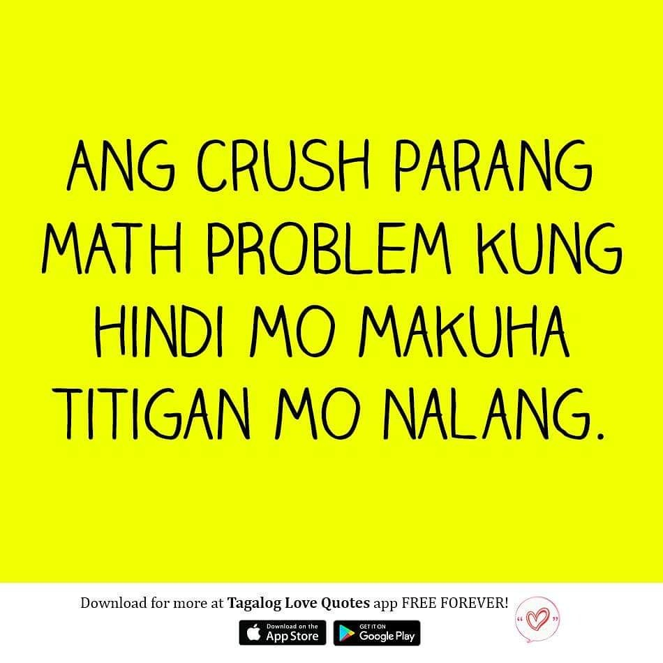 Love Quotes Twitter Tagalog Tagalog Love Quotes Twitter Ang Crush Parang Math Problem
