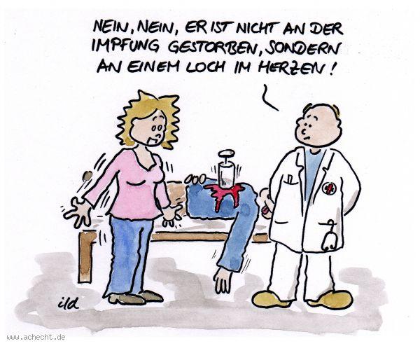Cartoon Nicht An Der Impfung Gestorben