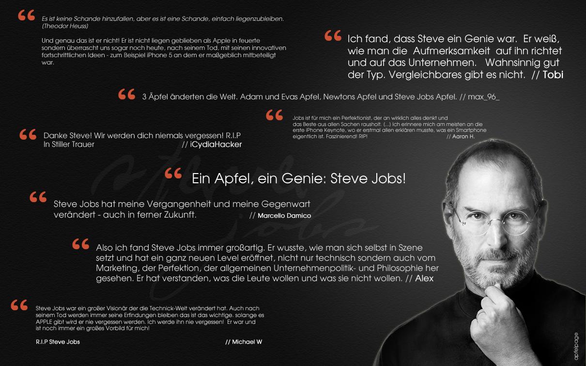 Erinnerungen Zitate Steve Jobs Eure Erinnerungen Und Meinungen