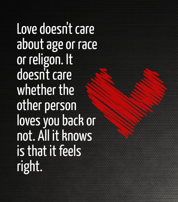 True Unconditional Love Quote For Her With Picture