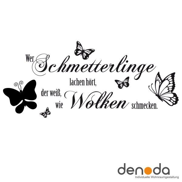 Wer Schmetterlinge Lachen Hort Wandtattoo