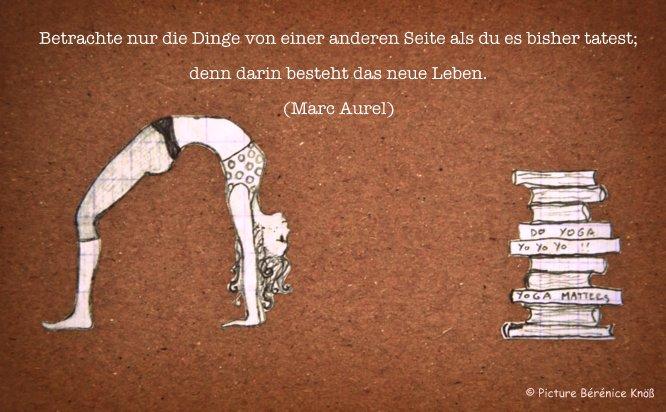 Yoga Zitat Marc Aurel My Yoga Guide