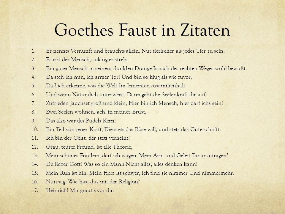 Bekende Citaten Uit Faust