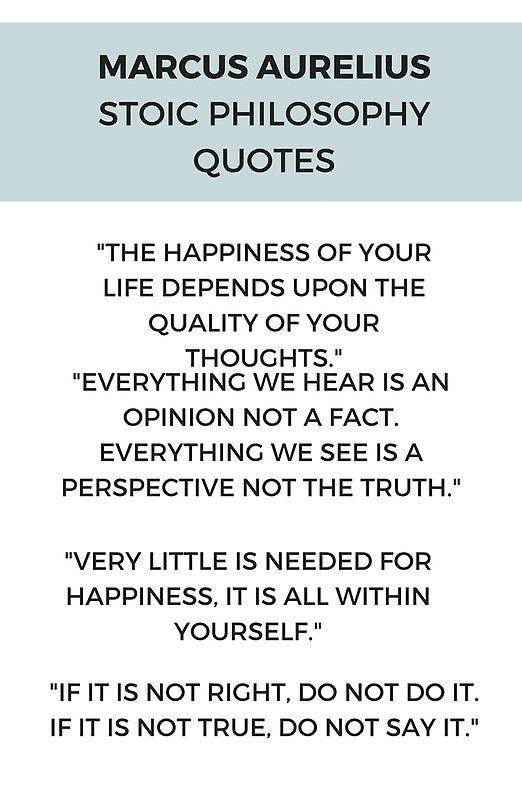 Stoic Philosophy Quote By Marcus Aurelius Stoic Stoicism Philosophy Wisdom Quotes
