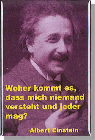 Magnet Einstein Mit Zitat Woher