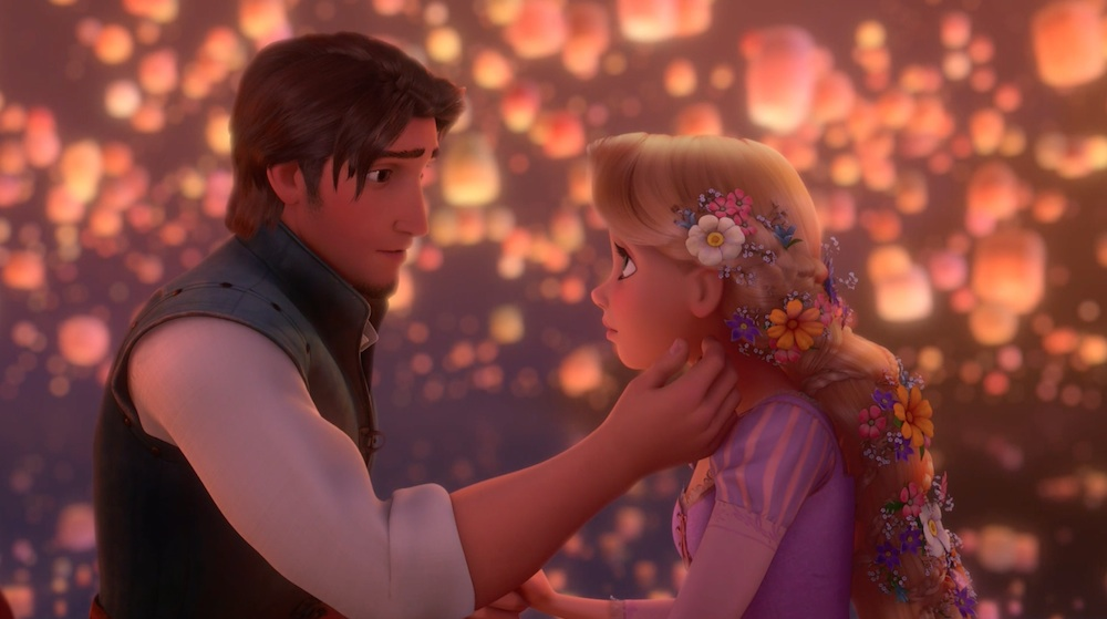 Flynn And Rapunzel See The Light In Tangled