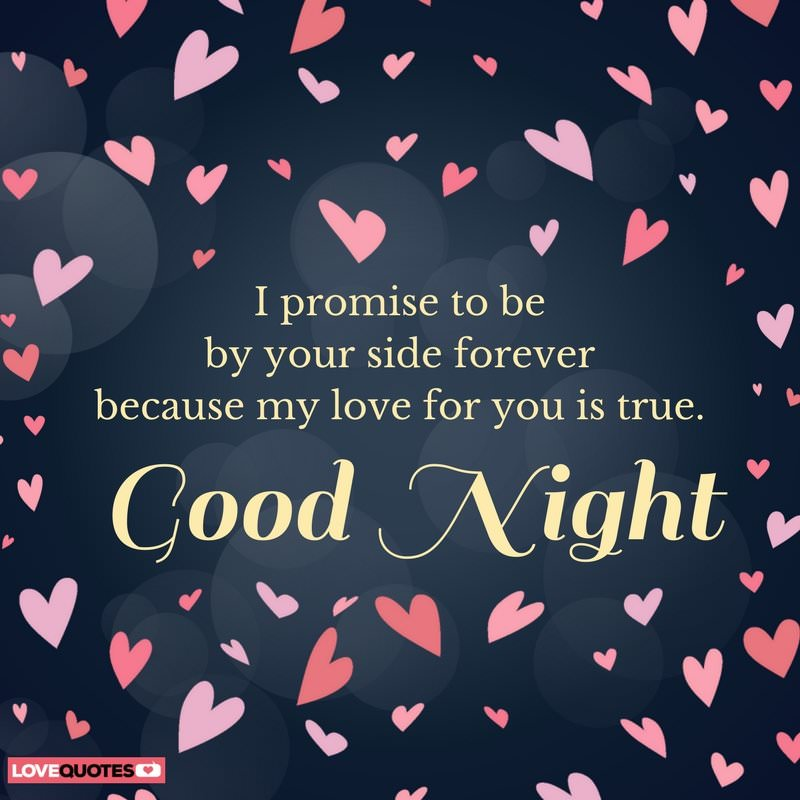 I Promise To Be By Your Side Forever Because My Love For You Is True Good Night