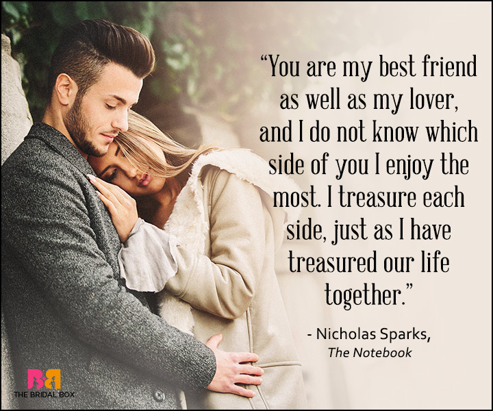 Romantic Love Quotes For Him Nicholas Sparks