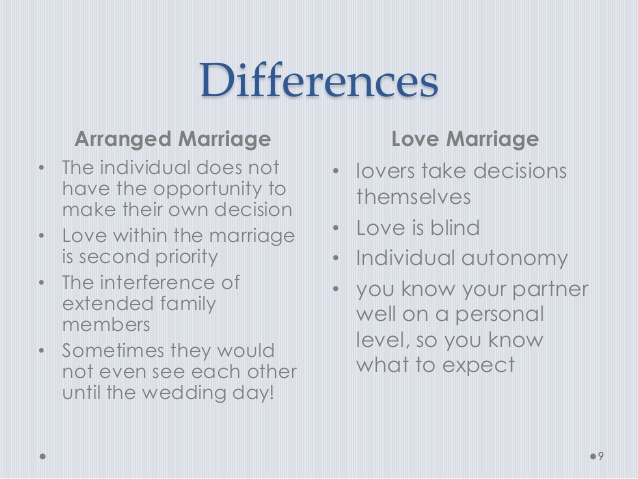 Understanding Less Interference  Differences Arranged Marriage Love
