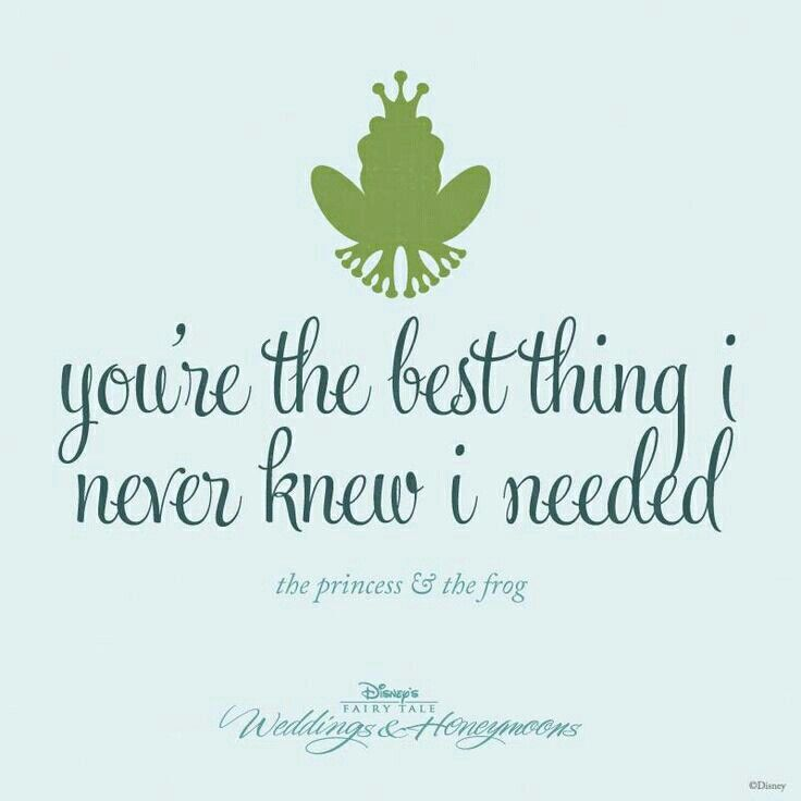 Youre The Best Thing I Never Knew I Needed  E D A E D A Lovemyhubby Disney Love Quotesnerdy