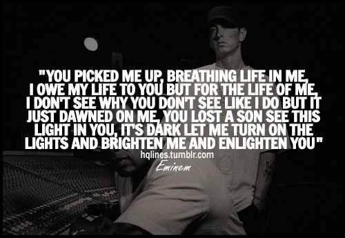 Eminem Quotes  C B Im About To Lose My Mind Youve Been Gone For Sooo Long