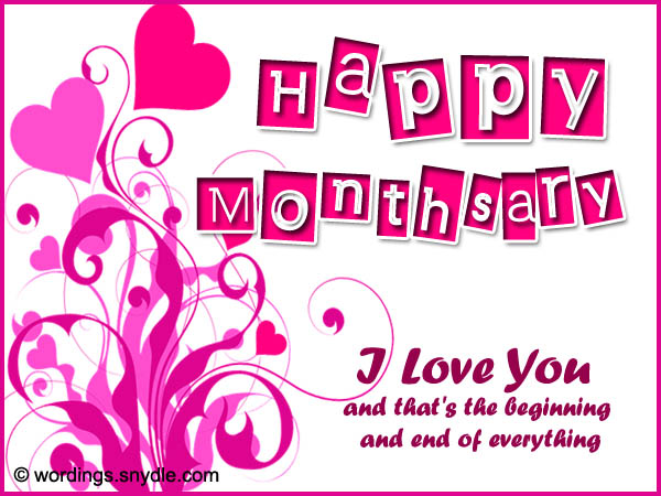 Happy Monthsary Greetings