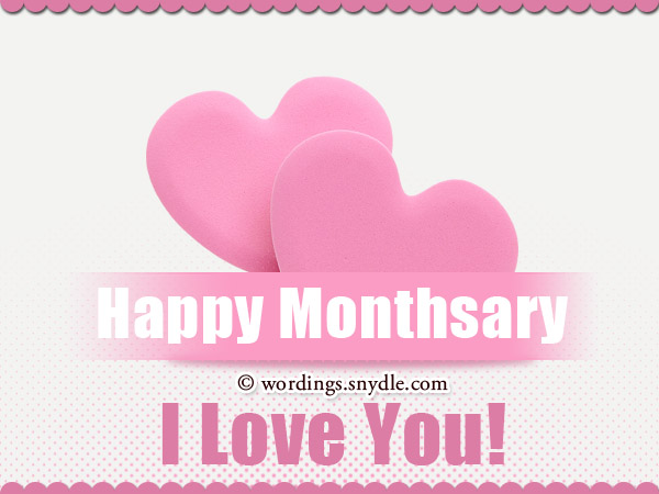 Happy Monthsary Wishes