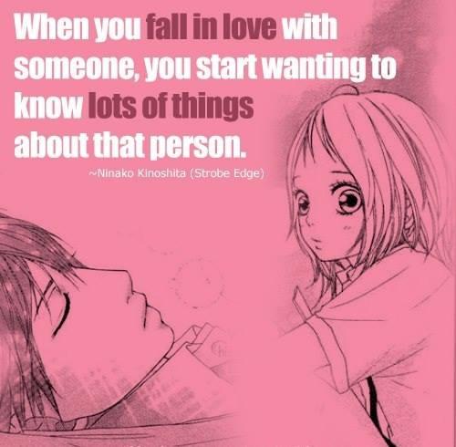 Strobe Edge Anime Love Quotes