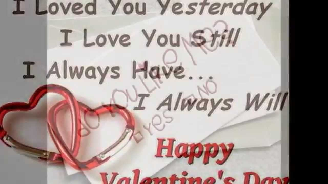 Happy Valentine Day Romantic Wishes Images Love Quotes