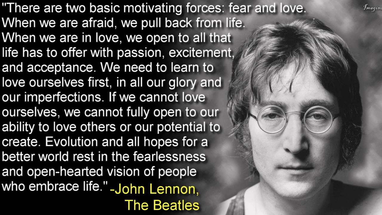 do not let fear motivate your actions many blessings cherokee billie find this pin and more on john lennon quotes