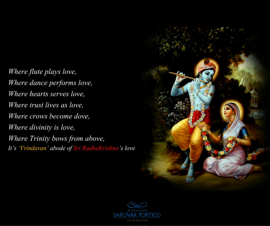 Have A Wonderful Day Radhe Krishna Vrindavan Quote Nidhivan