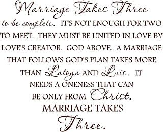 Love Quotes Christian Marriage Quote Marriage Takes Three With Custom By Vinylforall On Etsy