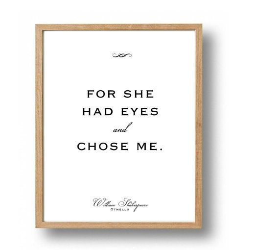 Shakespeare Quotes Ot O Love Quote Print Newlywed Gifts Wedding Print Literary Wedding