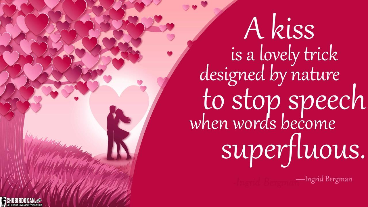 Cute Kissing Quotes Images For Her Him Best Love Kiss Quotes
