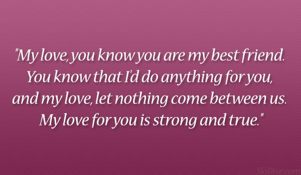 Nothing Come Between  Cute Boyfriend Quotes Which Are Lovely