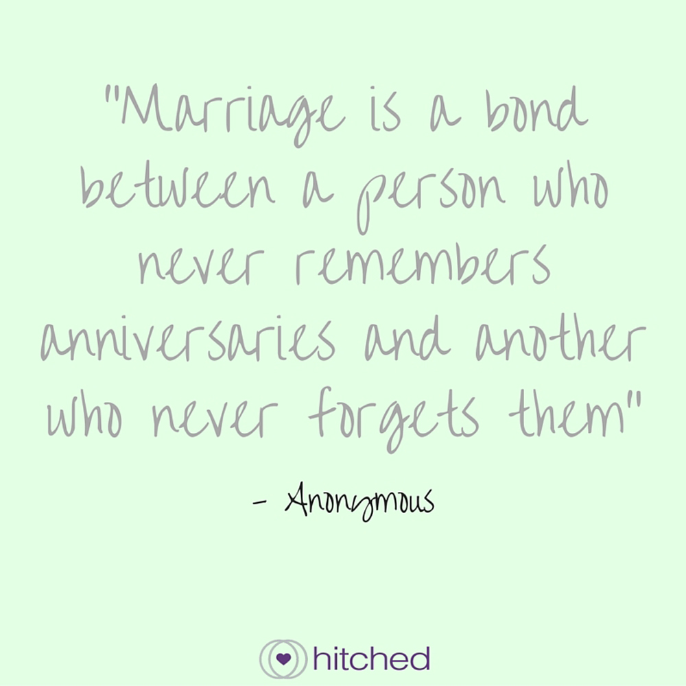 A Person Who Never Forgets Anniversaries Quote