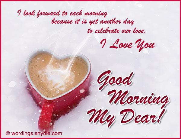 Good Morning My Dear