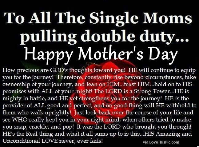 Religious Mothers Day Quote For Single Moms