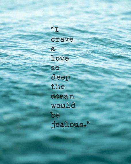 Beach Ocean Quote Sea Coastal Art Love Ocean Blue Teal Aqua Shabby Chic Beach Waves Seascape