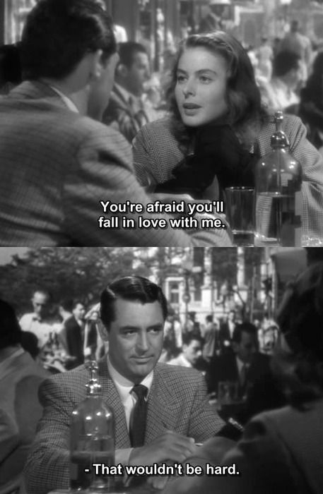 A Cl Ic Exchange Between Cary Grant And Ingrid Bergman In Notorious Alfred Hitch
