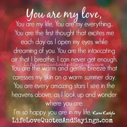 You Are My Everything Love Quotes And Sayings