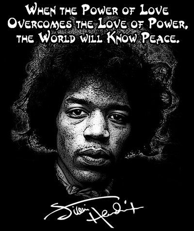 Jimi Hendrix Black T Shirt Or Hoodie When The Power Of Love Overcomes The Love Of Power The World Will Know Peace Free Us Shipping