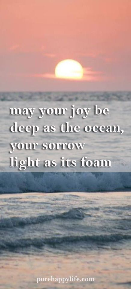 Life Quote May Your Joy Be Deep As The Ocean