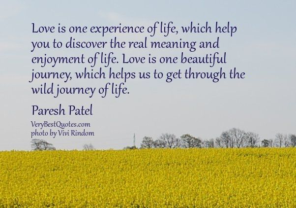 Quotes About Love Journey