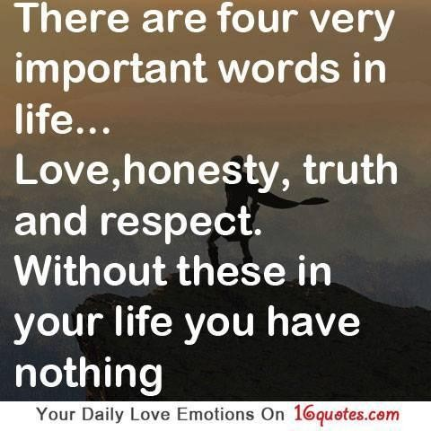 Honesty Truth And Love Quotes