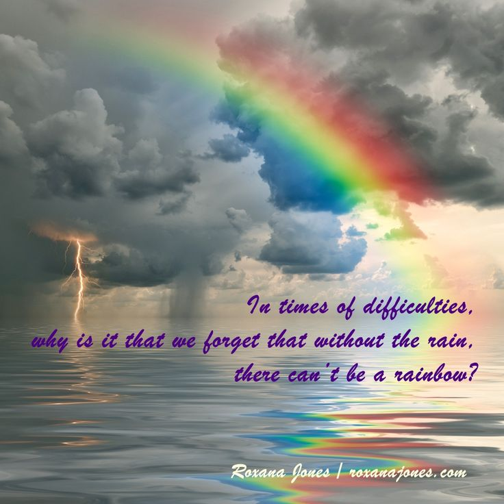 Inspirational Picture A Rainbow Of Hope X