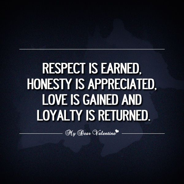 Respect Is Earned Honesty Is Appreciated Inspirational Quotesinsightful