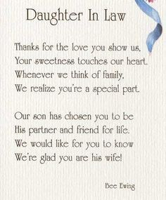 Image Result For Daughter In Law Love Quotes