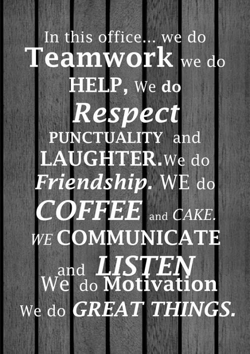 In This Office We Do Teamwork Google Search  C B Quotes On Teamworkmotivational Leadership Quotesinspirational
