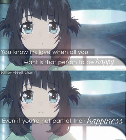 Beautiful Romance Anime Quotes