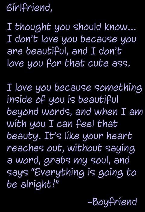 To My Beautiful Girlfriend