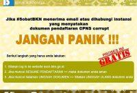 Bagaimana Jika Dokumen Pendaftaran CPNS 2018 Corrupt?