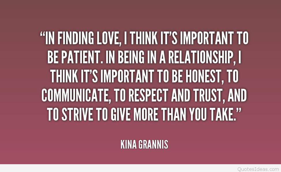Be Patint With Finding Your Love