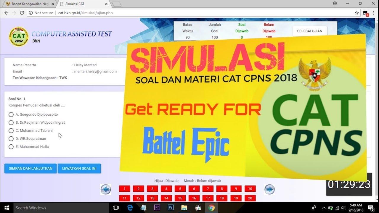 Contoh Soal Cpns 2018 Simulasi Cat Cpns 2018 Dari Bkn Qwerty