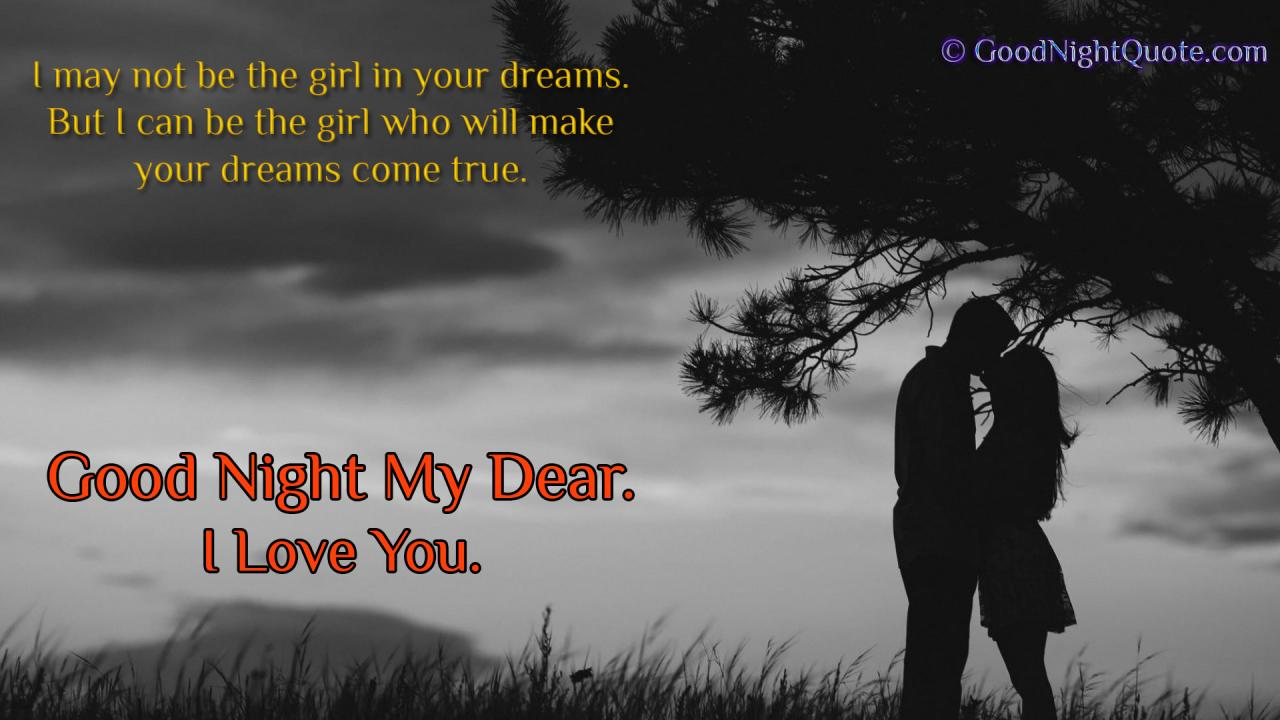 Cute Good Night Love Quote For Boy Friend