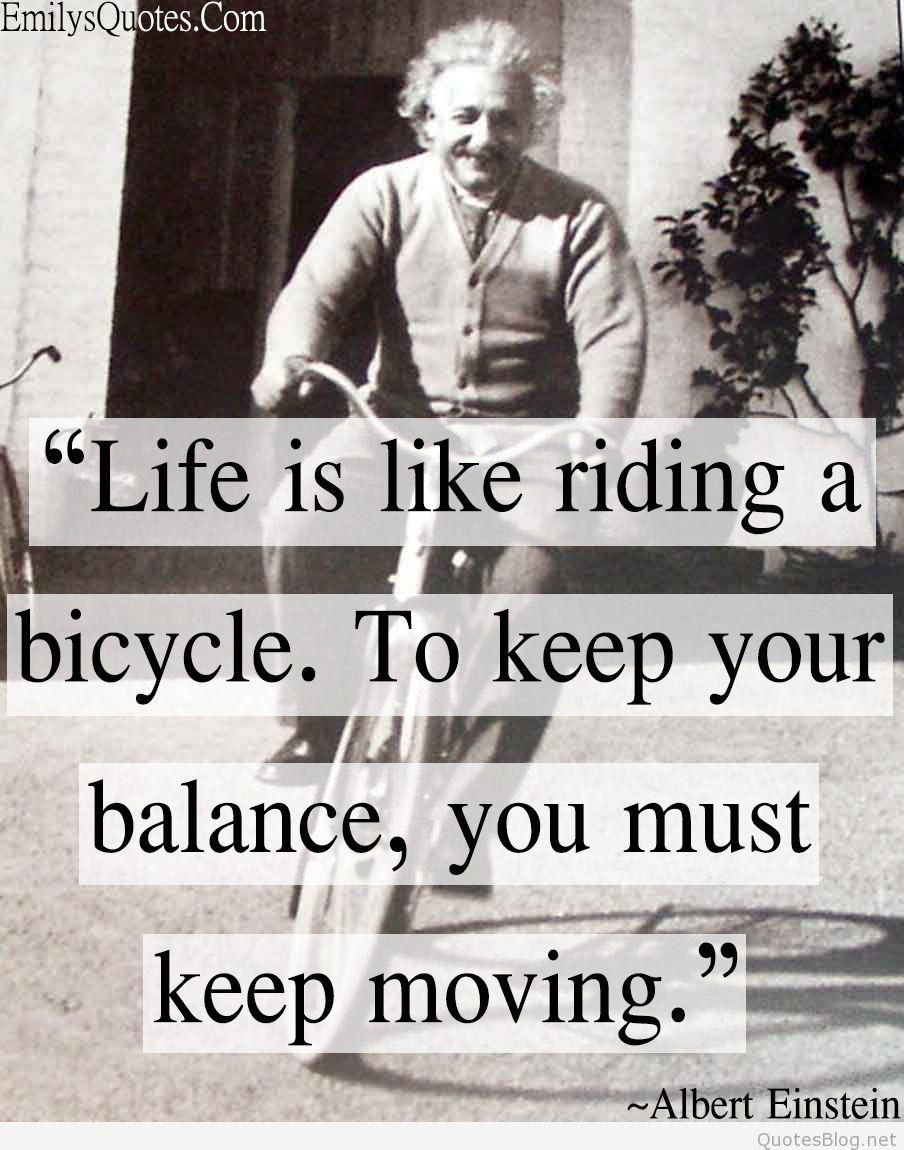 Com Life Balance Albert Einstein Intelligence Bicycle