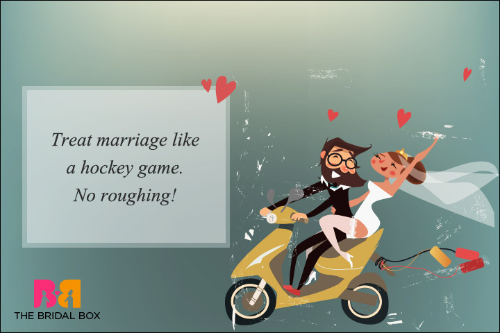 Funny Wedding Wishes Hockey Lovers