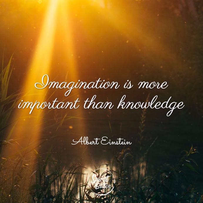 Imagination Is More Important Than Knowledge Albert Einstein