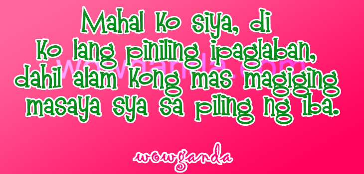 Tagalog Break Up Quotes Motivational And Inspirational Quotes  E E A Quotes About Love Giving
